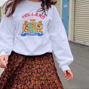 Vintage Holland embroidered distressed sweatshirt